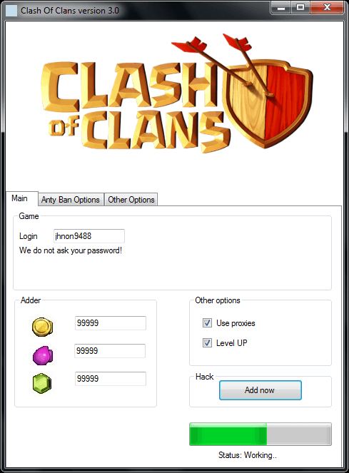 clash of clans hack tool for android and iOS